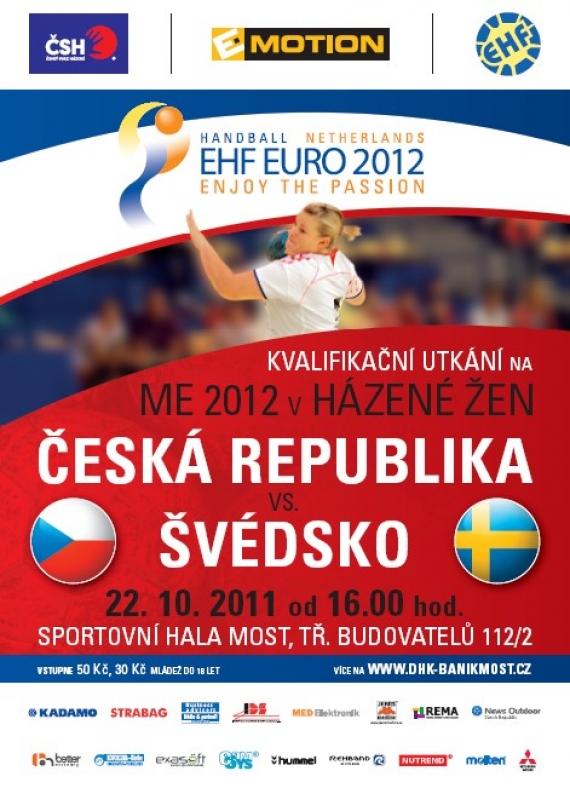 Kvalifikace na ME žen: Česko – Švédsko